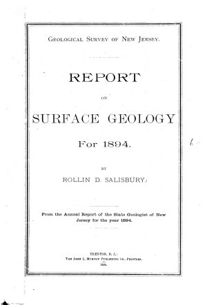 Report on Surface Geology for 1894 PDF