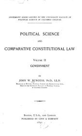 Political Science and Comparative Constitutional Law: Volume 2