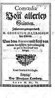 Comoedia von allerley St  nden  in five acts and in verse   Von newem durchsehen PDF