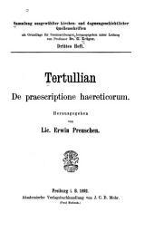 De praescriptione haereticorum