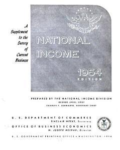 National Income  1954 PDF