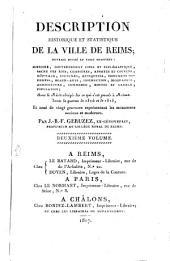 Description historique et statistique de la ville de Reims: Volume2
