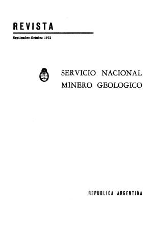 Revista   Direcci  n Nacional de Geolog  a y Miner  a PDF