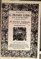 Il primo libro de capricci: Venedig, A. Raveri 1608