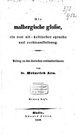 Die Malbergische Glosse  ein Rest alt keltischer Sprache und Rechtsauffaszung PDF