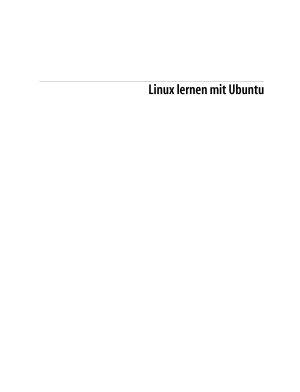 Linux lernen mit Ubuntu PDF
