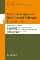Advances in Agile and User-Centred Software Engineering