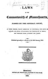 The Laws of the Commonwealth of Massachusetts