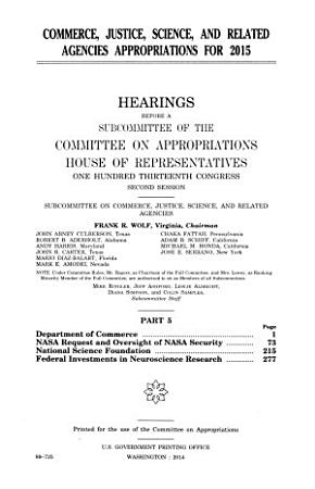 Commerce  Justice  Science  and Related Agencies Appropriations for 2015 PDF