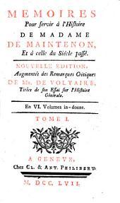 Mémoires pour servir à l'histoire de Madame de Maintenon