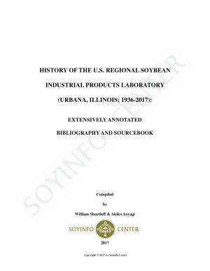 History of the U S  Regional Soybean Industrial Products Laboratory  Urbana  Illinois  1936 2017  PDF