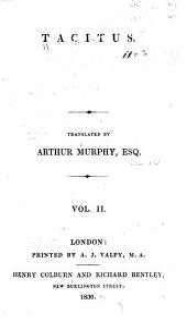 Tacitus: Volume 2