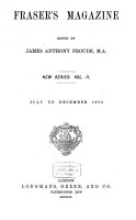 Fraser s Magazine for Town and Country PDF