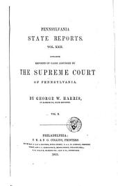 Pennsylvania State Reports: Volume 22