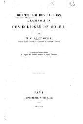 De l'emploi des ballons à l'observation des éclipses de soleil
