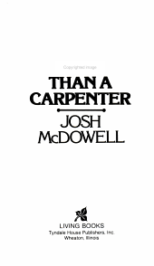 More Than a Carpenter PDF