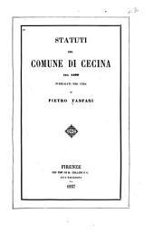 Statuti del comune di Cecina del 1409