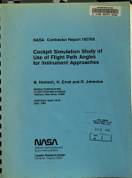Cockpit Simulation Study of Use of Flight Path Angle for Instrument Approaches PDF