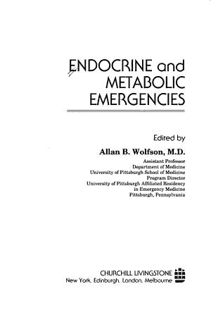Endocrine and Metabolic Emergencies PDF