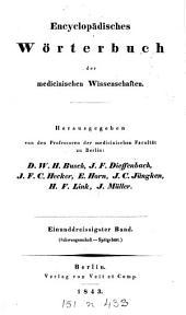 Encyclopädisches Wörterbuch der medicinischen Wissenschaften: Band 31