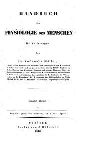 Handbuch der Physiologie des Menschen: für Vorlesungen, Band 2,Seite 2