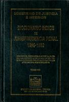 Diccionario   ndice de jurisprudencia penal 1989 1992  Tomo VIII PDF