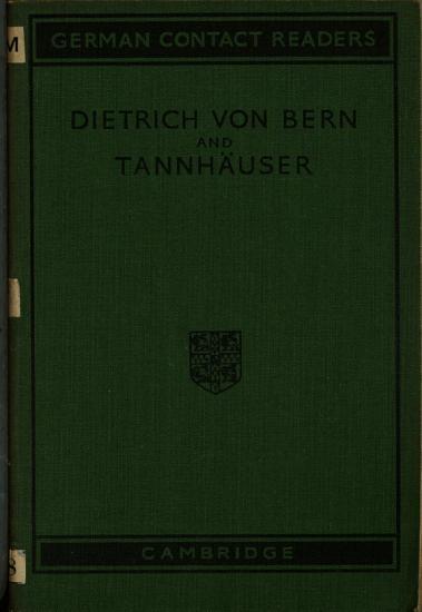 Dietrich Von Bern and Tannhauser PDF