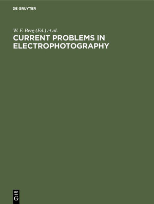 Current problems in electrophotography