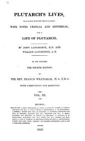 Plutarch's Lives: Translated from the Original Greek, with Notes Critical and Historical, and a Life of Plutarch, Volume 3