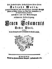 Des Hochwürdigsten ... Josephs Maria ... Bischofes ... zu Passau ... Übersetzung des Neuen Testaments