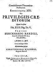 Conclusiones theoretico-practicae ad Pandectas: Exerc. XXI., de privilegiis creditorum