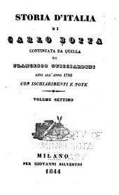 Storia d'Italia: Continuata da quella di Francesco Guicciardine [1534] sino all'anno 1789