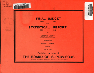 Final Budget for the Fiscal Year     and Statistical Report for the Fiscal Year Ending June 30     PDF