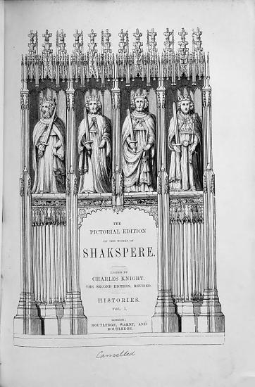 The Pictorial Edition of the Works of Shakspere  Edited by C  Knight  The Second Edition  Revised PDF