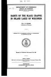 Habits of the Black Crappie in Inland Lakes of Wisconsin