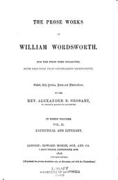 The Prose Works of William Wordsworth: Volume 2