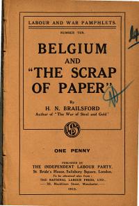 Belgium and  the Scrap of Paper