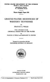 Ground-water resources of western Tennessee: Issues 655-657