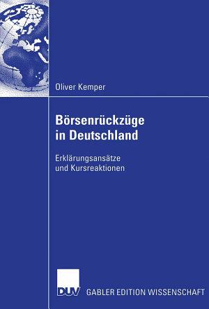 B  rsenr  ckz  ge in Deutschland PDF