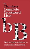 Chambers Crossword Lists PDF
