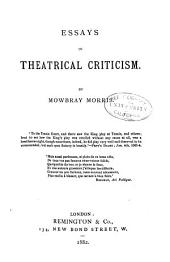 Essays in Theatrical Criticism