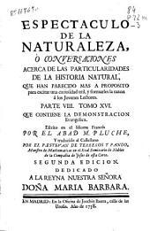 Espectaculo de la naturaleza o Conversaciones acerca de las particularidades de la historia natural ...