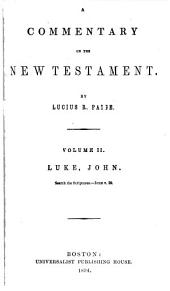 A Commentary on the New Testament: Volume 2