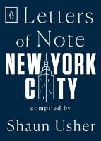Letters of Note  New York City PDF