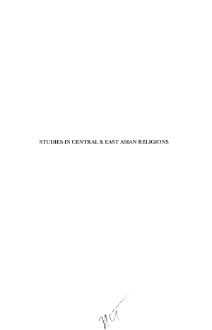 Studies in Central and East Asian Religions
