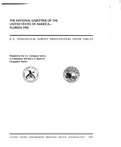The National Gazetteer of the United States of America Book