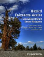 Historical Environmental Variation in Conservation and Natural Resource Management PDF