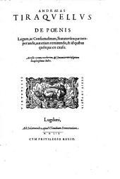 De Poenis Legum, ac Consuetudinum, Statutorumque temperandis (etc.)