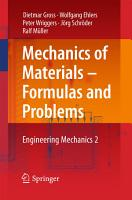 Mechanics of Materials     Formulas and Problems PDF