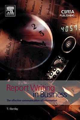 Report Writing in Business PDF